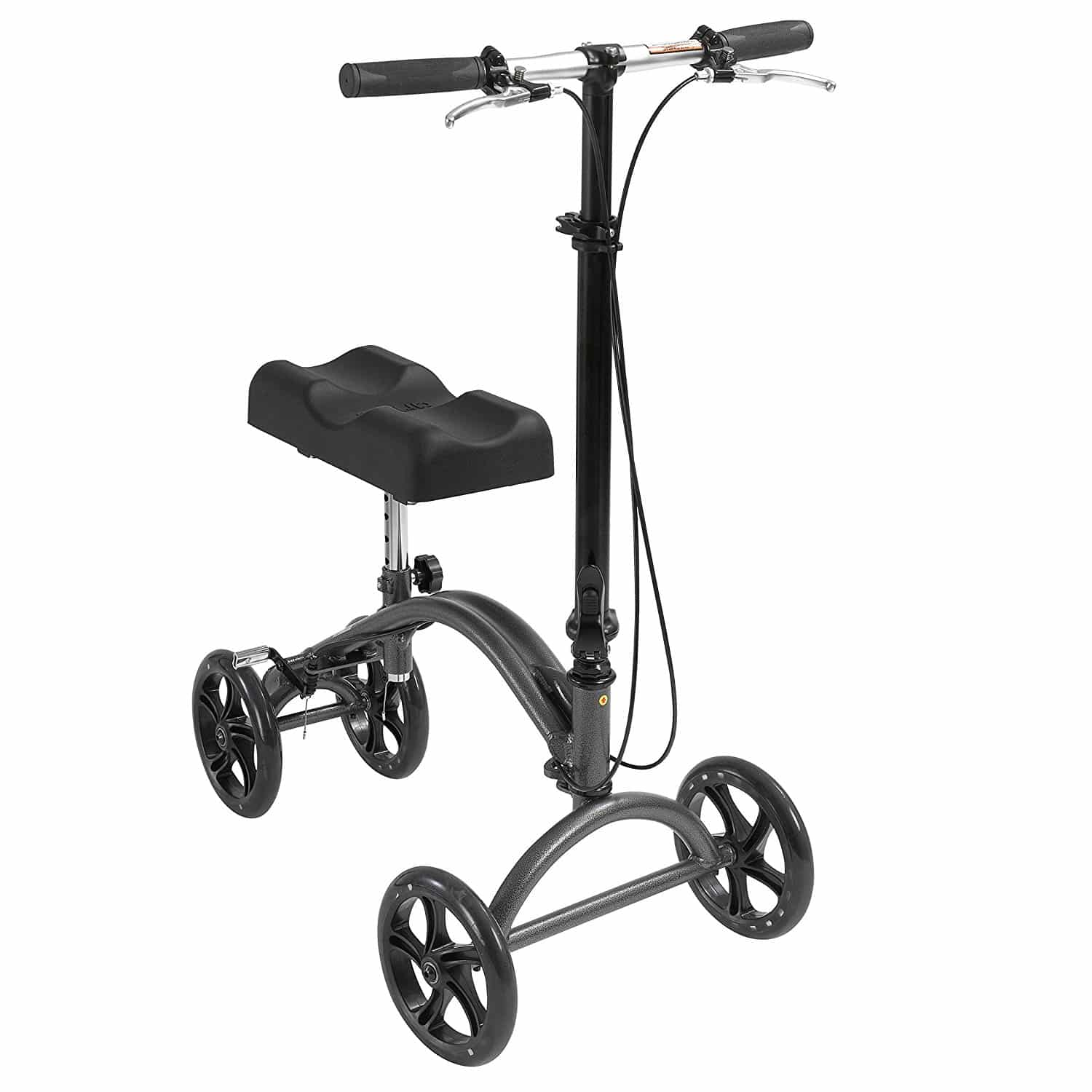 Best All Terrain KneeRover Steerable Knee Scooter Knee Walker Heavy Duty Crutches Alternative in Blue