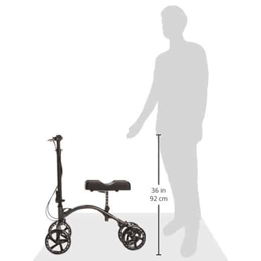 Knee Walker by Vive - Best Steerable Leg Scooter for Broken Leg - Medical Kneeling Roller Scooter - Alternative to Crutches - Broken Foot Cart for Senior & Elderly Mobility